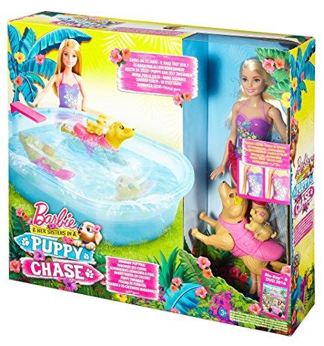 [Amazon] Mattel Barbie DMC32 Barbie Die Große Hundesuche Schwimmendes Hündchen & Pool, inkl. Puppe