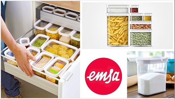 Emsa Optima 6 tlg und 16 tlg Vorratsdosen-Sets für 28€ / 49€ + 4,95€ VSK @ Vente-Privee