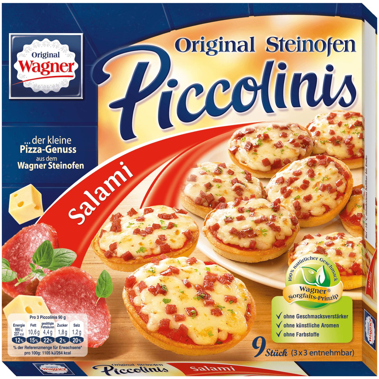 [Aldi Süd ab 25.03.] Original Wagner Piccolinis Salami oder Drei-Käse für 1,49€