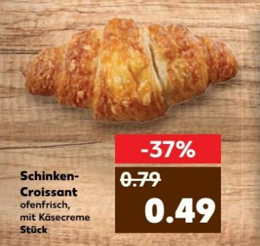[Kaufland ab 16.03.] Schinken-Croissant für 0,49€