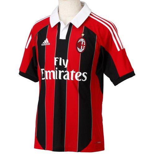 Amazon : adidas Fußballtrikot AC Milan Größe S - Nur 19,35 €