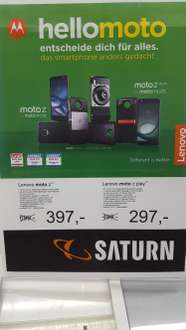 [{LOKAL Saturn Bremen}] Lenovo Moto Z  (5,5'' Amoled QHD, Snapdragon 820, 4GB RAM, Quick Charge, Moto Mods, Android 7) für 397€ / Z Play 297€