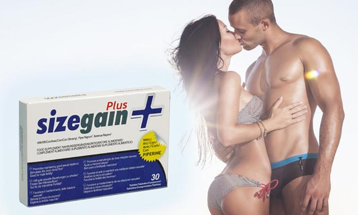 Der Frühling kommt! SizeGain Plus / natürliche Penisvergrößerung / 30 Tabletten via Groupon