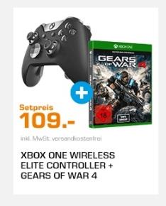 Xbox One Elite Controller + Gears of War 4 für 109€ [Saturn]