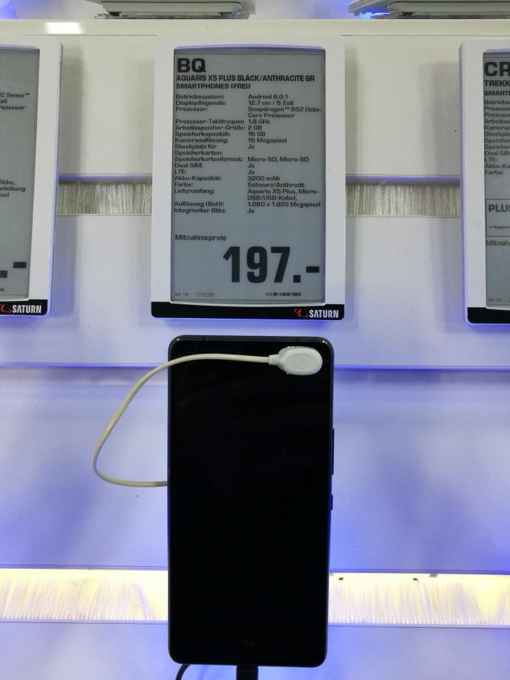 [Lokal Saturn Bremen] BQ X5 Plus 16GB 2GBRam, schwarz