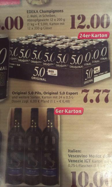 5.0er oder 2.5er Bier (Marktkauf) - bald ist Festivalsaison