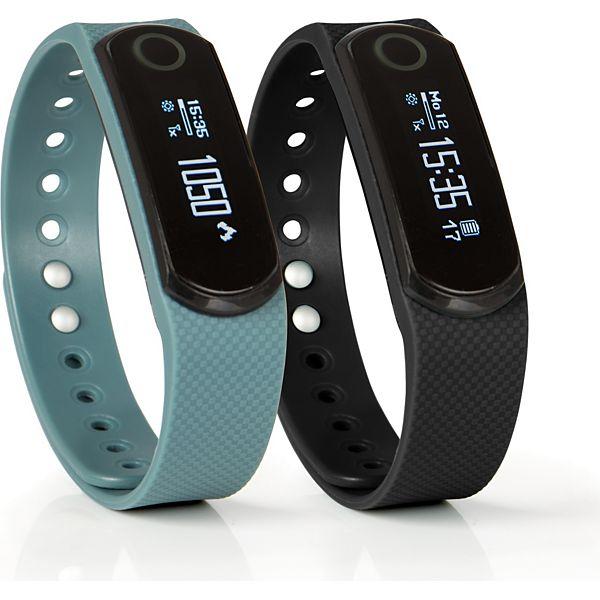 [Plus] SPORTPLUS Q-Band EX HR SP-AT-BLE-50 Activity Tracker Fitnessarmband inklusive 2 Armbänder und optischem Herzfrequenzsensor
