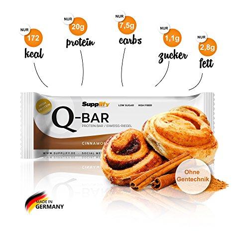 Low Carb Eiweissriegel 12 a 60g Stück zu 18,96€ Qbar bei 3 Packungen nochmals 10%