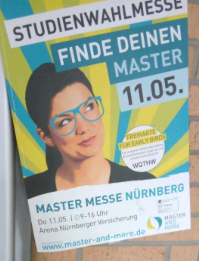 [Lokal Nürnberg] Freikarten Master Messe Nürnberg / Studienwahlmesse