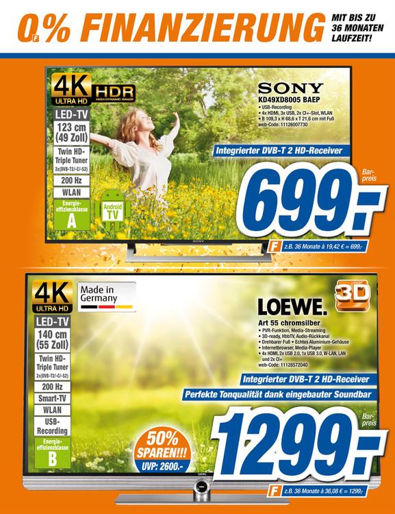 LOKAL EXPERT in Xanten Loewe Art 55 chromsilber UHD-Fernseher über 40% sparen