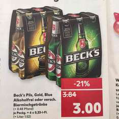 Kaufland Beck's alle Sixpack's auch Alkoholfrei ab 20.03