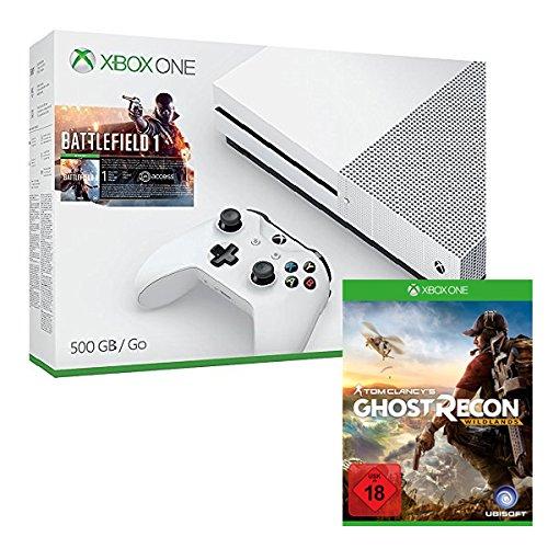 Xbox One S 500 GB + Battlefield 1 + Tom Clancy's: Ghost Recon Wildlands für 275€ (Amazon)
