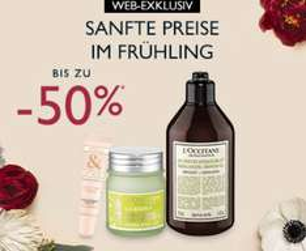 Online-only: 2 Tage lang Frühlings-Sale mit bis zu 50% Rabatt und Goodies ab 50€ Bestellwert bei L'Occitane