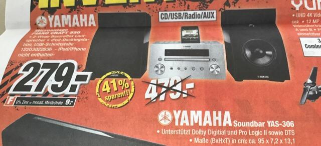 Yamaha Pianocraft 550 Schwarz für 279€ Expert Klein