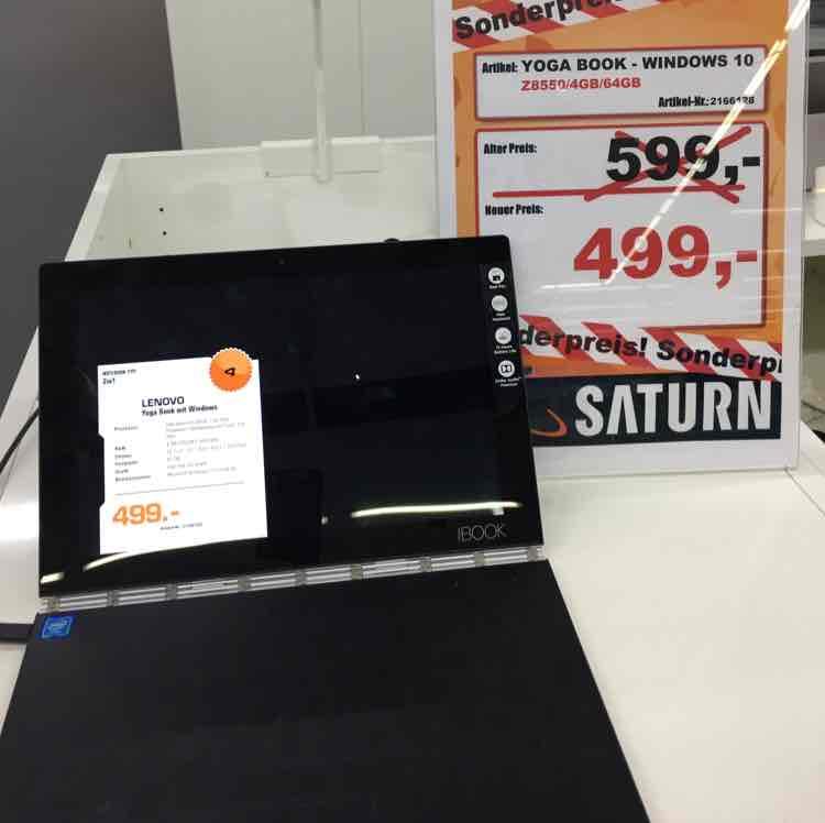 Lenovo Yoga Book Microsoft Variante (Saturn Darmstadt)