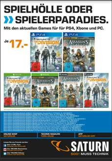 [Saturn Berlin/Potsdam] Tom Clancy'sThe Division oder  Assassins Creed Syndicate (PS4/XBOX/PC)