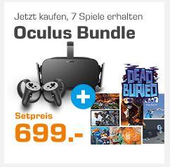 Oculus Rift + Oculus Touch Controller + 7 Spiele [Saturn, Amazon, Oculus]