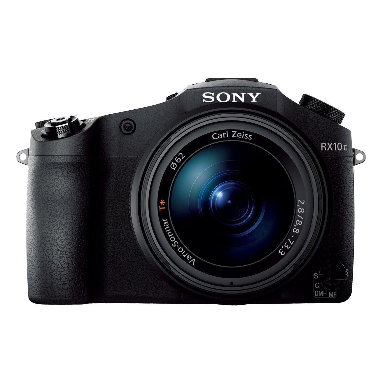 [amazon.fr] Sony DSC-RX10 Mark II Bridge-Digitalkamera (20.2 Megapixel, 3 Zoll LCD Display, 4K HD, 40-fach Super-Zeitlupe, Anti-Distortion Verschluss, XGA OLED Sucher) mit 24-200 mm Zeiss Vario-Sonnar T* F2.8 Zoomobjektiv schwarz für 997€