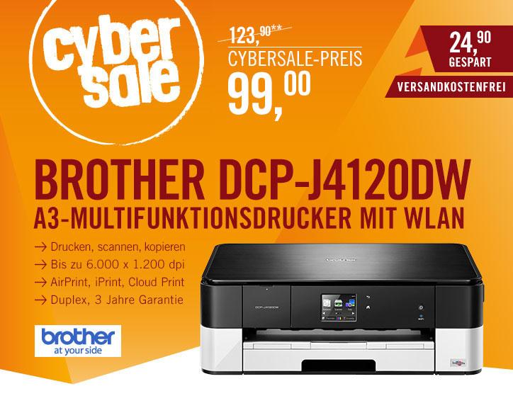 Brother DCP-J4120DW 3in1-Drucker heute im Cybersale für 99€