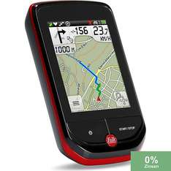 [Plus] Falk Outdoor GPS Radcomputer / Fahrradnavi  Pantera 32 mit topografischer Kartennavigation (EU 25), ANT+, schwarz/rot