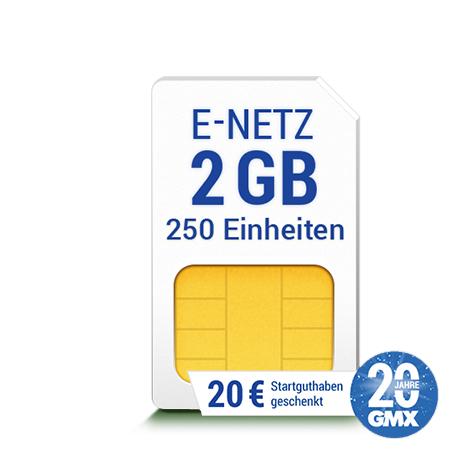 GMX: All-Net & Surf Flex2/3/4 GB Daten 250/300/400 Freieinheiten + 20€ Startguthaben