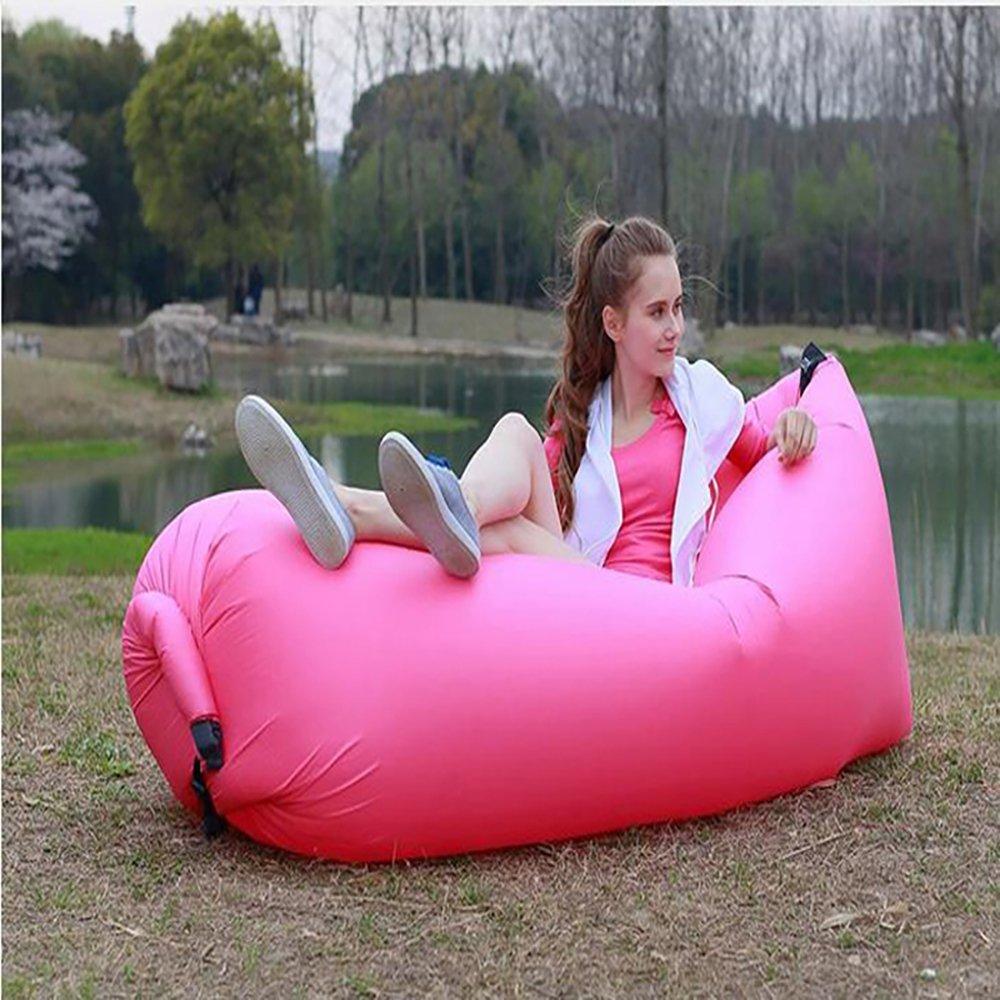 Amazon.de: selbstaufblasender Sitzsack (versch. Farben) wasserdicht