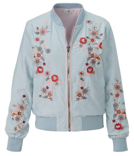 Nur noch heute: VSKfrei ab 50€ MBW + 20% Flash-Sale auf ausgewählte Jacken und Mäntel bei Impressionen, z.B. Sienna Bomberjacke mit Stickereien 119,20€ statt 157,95€
