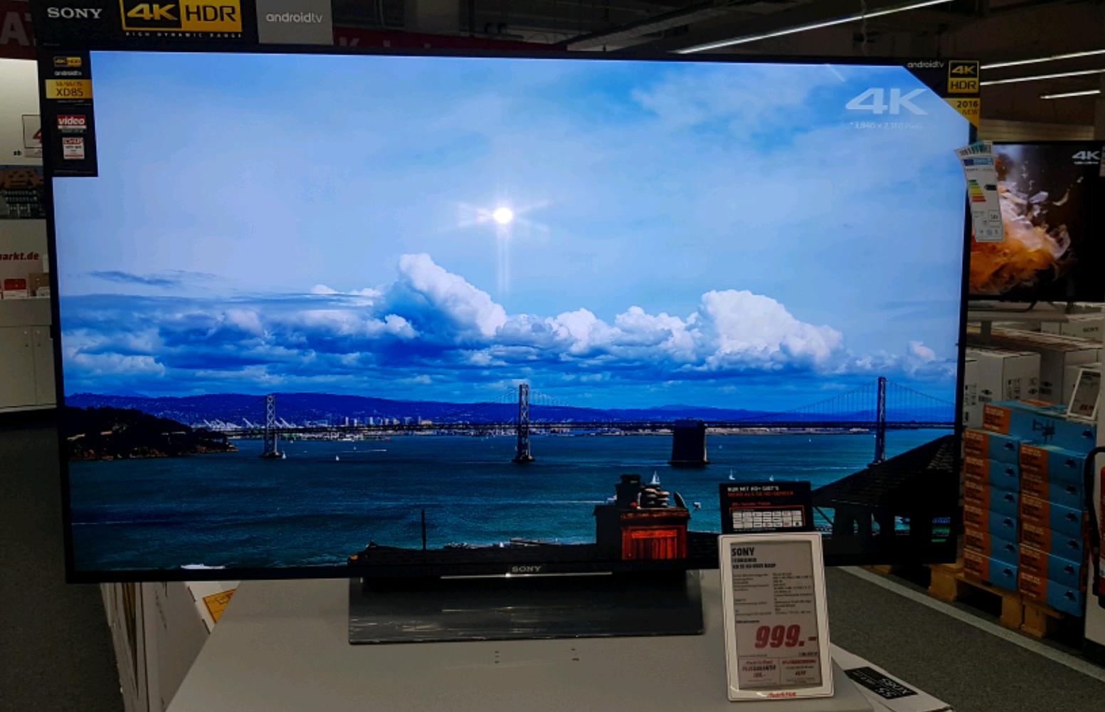 Sony KD55 XD 8505 4k HDR  + 120€ Coupon  Media Markt Braunschweig