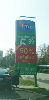 [IMO Wash] Lokal - 50% auf alle Wäschen bei IMO Wash in 31542 Bad Nenndorf direkt an der A2