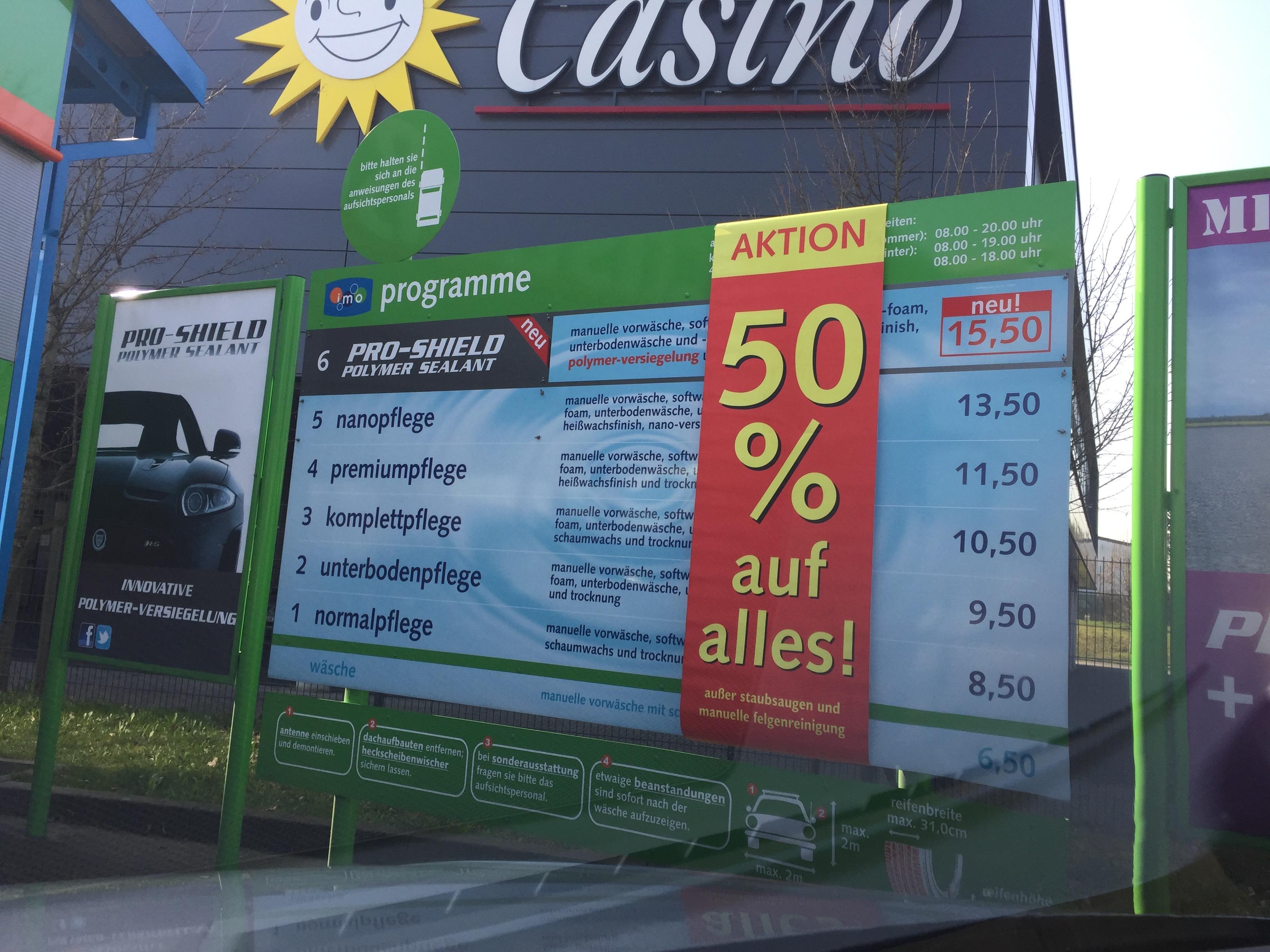 [Lokal Monheim am Rhein] IMO Waschstraße 50 % auf alle Wäschen