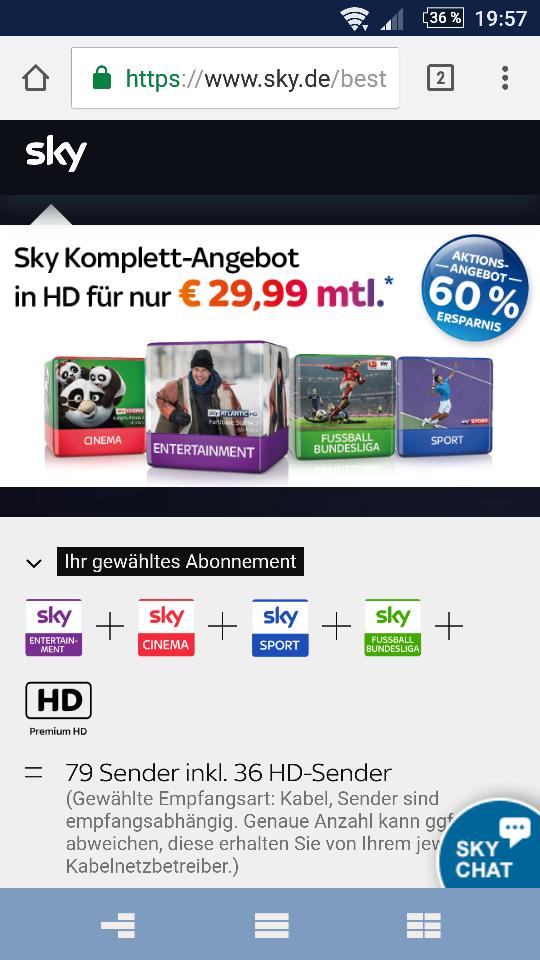 sky komplett für 29,99€