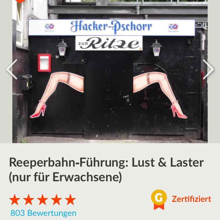 Reeperbahn Führung: Lust & Laster für nur 18.75€ (lokal Hamburg)