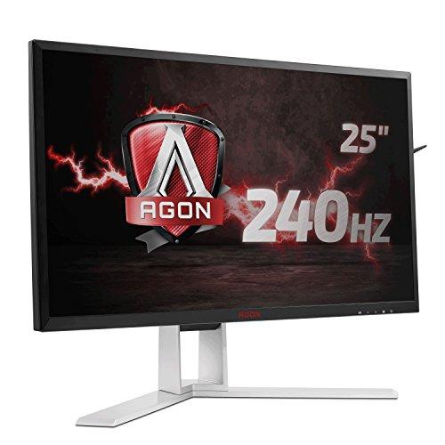[Blitzangebot] AOC AGON AG251FZ 63 cm (25 Zoll) Monitor (DVI, HDMI, Displayport, USB 3.0, 1920x1080, 240 Hz, 1ms, FreeSync) schwarz/rot | PVG 448,94