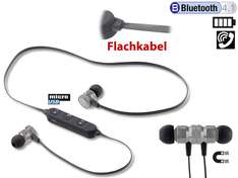 PEARL In-Ear-Stereo-Headset SH-30 mit Bluetooth 4.1 und Magnetverschluss