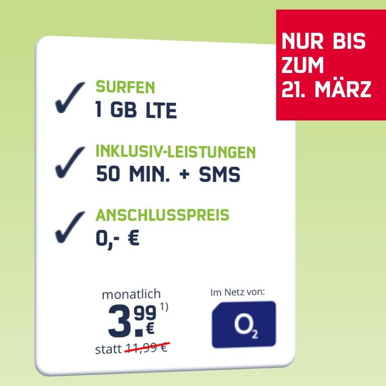 mobilcom-debitel o2 Smart Surf (1GB LTE 50 50) für monatlich 3,99 € + 100 € HolidayCheck Gutschein *UPDATE*