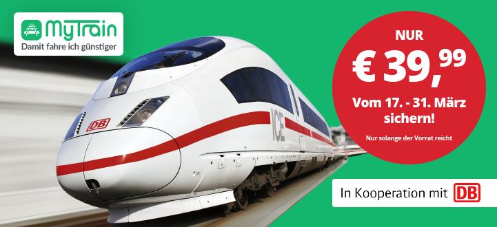 Super für den nächsten Städtetrip! Mit dem Bahn-Sparticket für nur 39,99 € quer durch Deutschland!