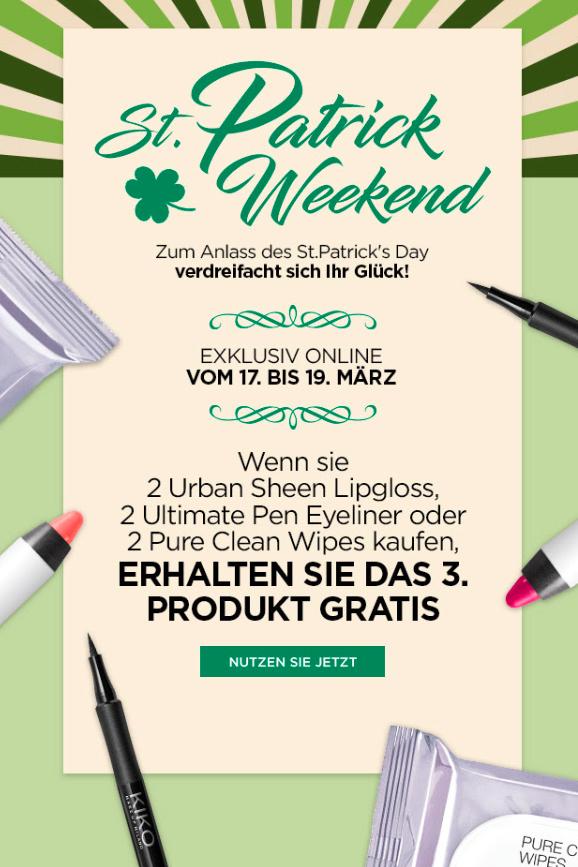 Online only: 3 für 2 auf ausgewählte Artikel, z.B. 3 Lipgloss-Stifte zusammen für 2,40€ statt 14,70€ (MBW online 25€)