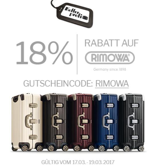 Übers Wochenende! 23% RABATT AUF RIMOWA!!!
