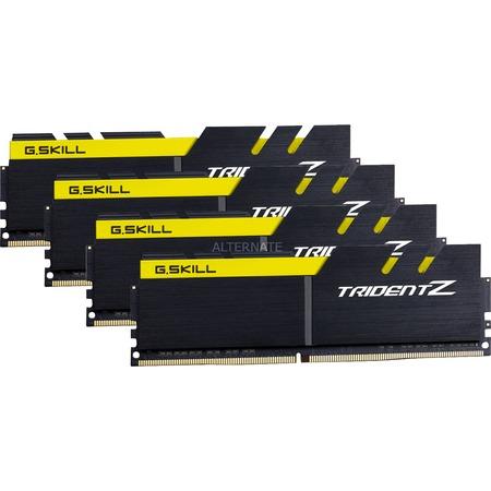 G.Skill Trident Z 32GB Kit (4x8GB) DDR4-3200 schwarz / gelb bei Zackzack