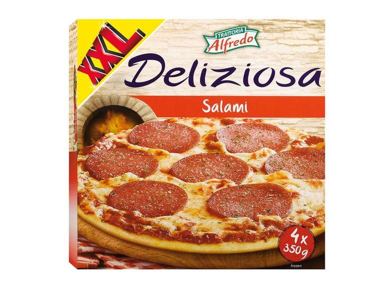 [Lidl] Trattoria Alfredo Pizza Deliziosa Salami XXL 4er Pack 2.79€ (70 Cent pro Pizza)