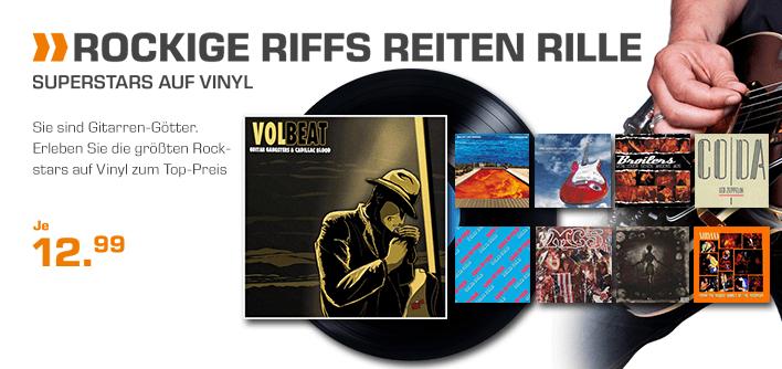 Vinyl !!! Rock Aktion @ Saturn.DE für je 12,99 € (Versandkostenfrei)