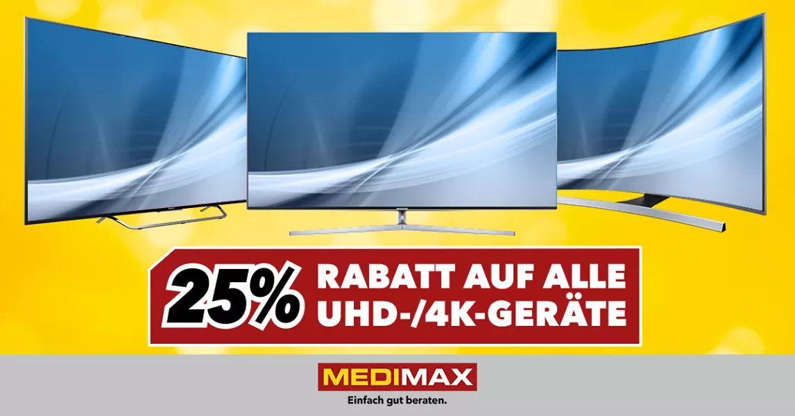 MediMax Bochum 25% auf alle UHD/4K TVS Samsung UE65KS8090  2024.25 €