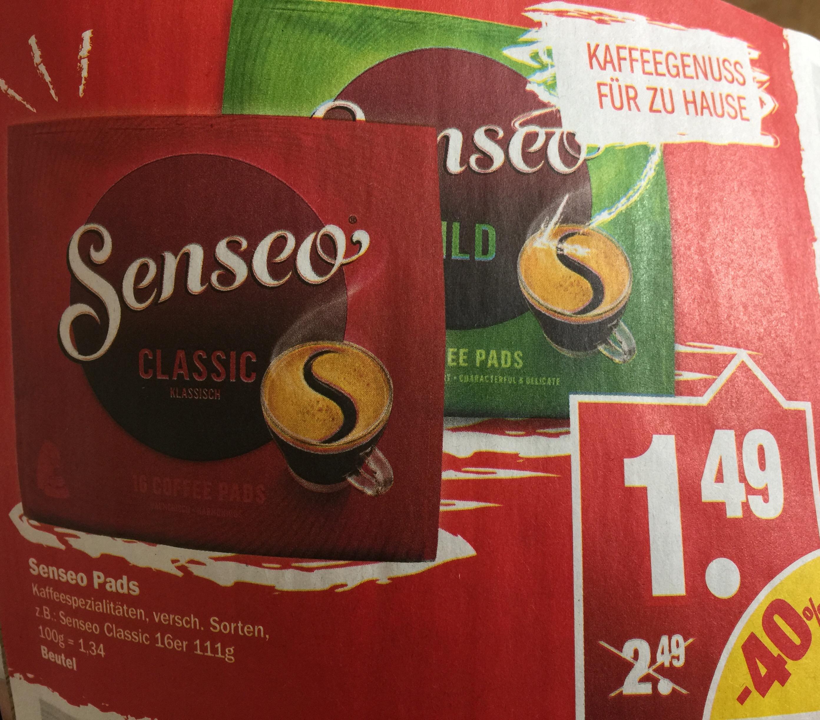 Senseo Pads für 1,49€ [Real und NP]
