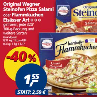[Real ab 20.03.] Original Wagner Steinofen Pizza & Flammkuchen versch. Sorten für 1,55€