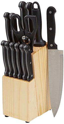 [Amazon prime] 14 teiliges  Amazon basics Messerset mit Block für 26 €.