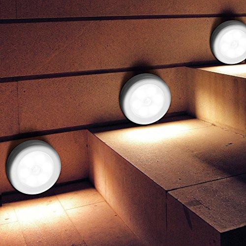 [3 Stück] IWILCS Nachtlicht, Auto Ein/Aus Nachtlampe / LED Nachtlicht / Orientierungslicht, Nachtlicht mit Bewegungsmelder für Schrank