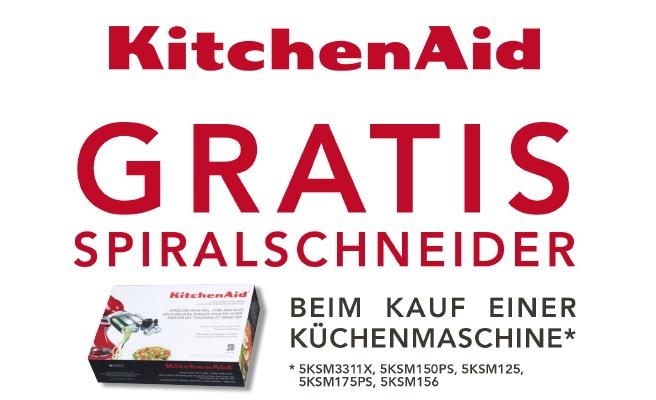 KitchenAid Gratis Spiralschneider beim Kauf einer Küchenmaschine zwischen 20.03.17 und 20.05.17