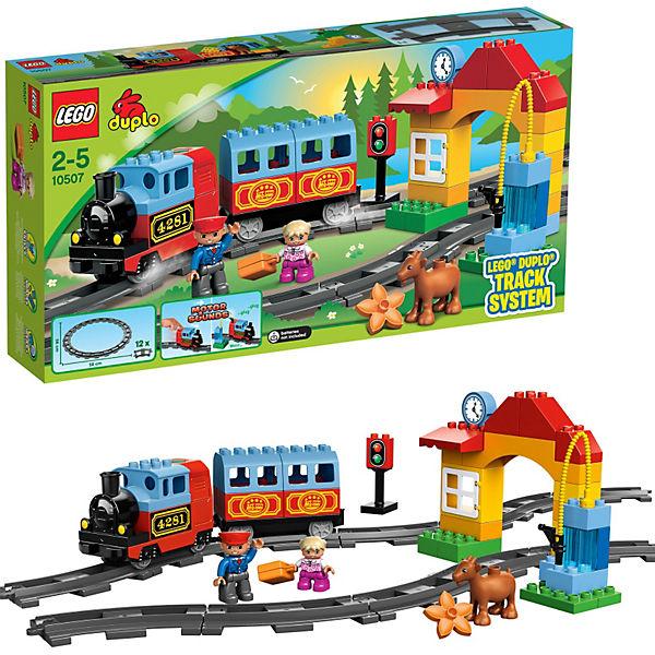 15% Rabatt auf Lego Duplo 29€ MBW bei [Mytoys] z.B. 10507 Eisenbahn Starter Set & 10506 Eisenbahn Zubehör Set für 41,19€ inkl. VSK
