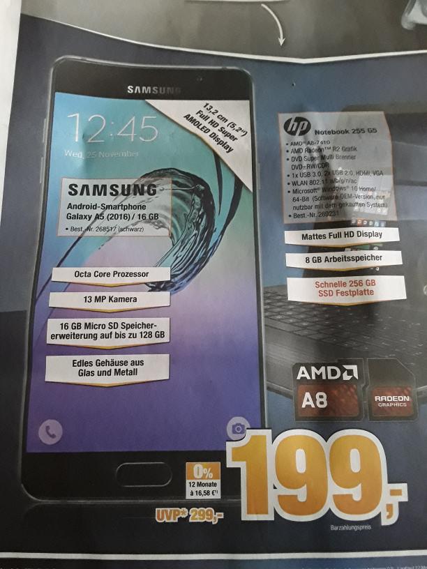 [Lokal Elmshorn?] Samsung Galaxy A5 (2016) schwarz