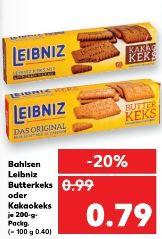 [Kaufland ab 27.03] Leibniz Butterkekse für 0,59€